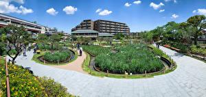 Обои для рабочего стола Япония Токио Сады Horikiri iris garden город