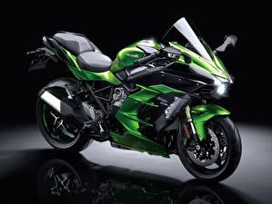 Фотография Kawasaki Зеленые 2018-21 Ninja H2 SX мотоцикл