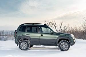 Обои Лада Снега Сбоку Металлик SUV Niva Travel Off-Road, 2020 -- авто