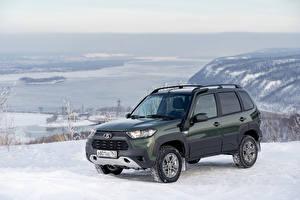 Картинки Лада Снег Металлик SUV Niva Travel Off-Road, 2020 машины