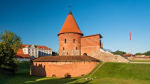 Картинка Литва Каунас Замки Башня Kaunas Castle