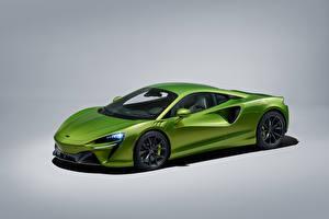 Фотографии Макларен Металлик Серый фон Зеленая Artura, Worldwide, 2021 машина