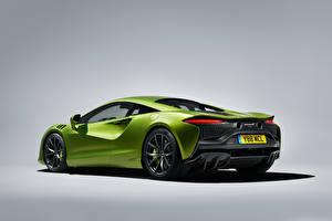 Фотографии Макларен Металлик Серый фон Зеленый Artura, Worldwide, 2021 Автомобили