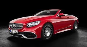 Обои Mercedes-Benz Майбах Кабриолет Красная S 650, Cabriolet, 2017 машина