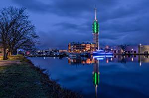 Картинки Нидерланды Речные суда Лодки Водный канал Utrecht город