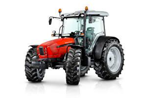 Фотографии Трактор Красные Белом фоне SAME Explorer 115 E, 2012