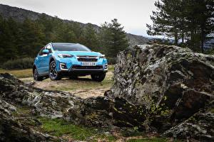 Фото Subaru Гибридный автомобиль Голубой Металлик CUV XV Eco Hybrid, ES-spec.2020 -- Автомобили