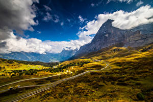 Картинка Швейцария Горы Альпы Облака Grindelwald