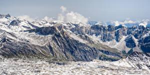 Фото Швейцария Горы Панорамная Альпы Gryon Природа