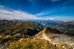 Фотография Швейцария Гора Небо Альп Graubünden