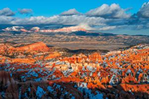 Обои Штаты Парки Пейзаж Каньон Скала Облака Bryce Canyon National Park, Utah