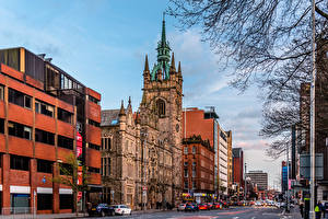 Обои Великобритания Здания Улиц Belfast, Northern Ireland город