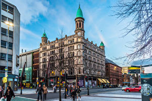 Фотография Великобритания Здания Люди Улице Belfast, Northern Ireland, Belfast City Centre Города