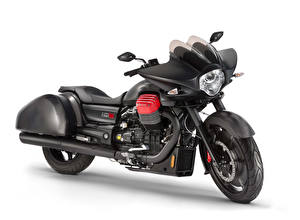 Фотография Белым фоном Черный 2015-21 Moto Guzzi MGX-21 Flying Fortress мотоцикл