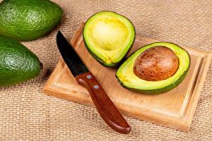 Обои для рабочего стола Авокадо Ножик Разделочной доске Пища