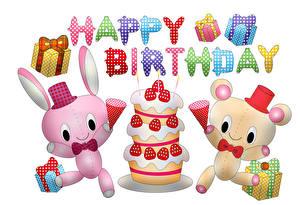 Фото День рождения Торты Коробке Подарки Текст Английский