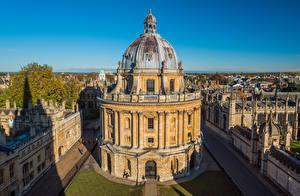 Картинки Англия Здания Библиотека Radcliffe Camera, Oxford Города