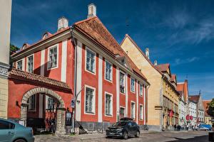 Фотография Эстония Таллин Дома Люди Улица