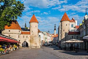 Фотография Эстония Таллин Башни Улице Viru Gate
