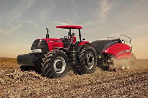 Обои для рабочего стола Поля Сельскохозяйственная техника Трактора 2017-21 Case IH Puma 185 ROPS