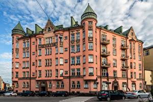 Обои Финляндия Хельсинки Дома Улица Ihantola Города