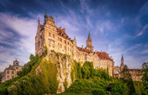 Фотографии Германия Замки Скале Hohenzollern Castle город