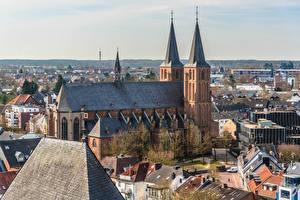 Фотографии Германия Церковь Дома Башни Kleve, Stiftskirche