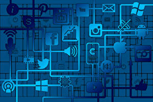 Картинка Интернет Коронавирус Логотип эмблема social networks