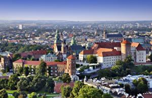 Фото Краков Польша Замки Собор Сверху Wawel Castle, Cathedral Saints Stanislaus and Wenceslas