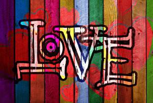Фото Любовь Граффити Доски Серце Текст Английский