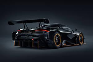 Картинка McLaren Черная Металлик Сзади 720S GT3X, 2021 машина