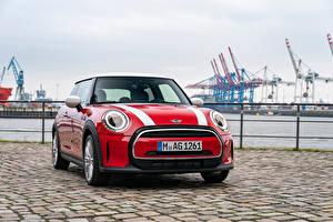 Картинки Mini Красных Спереди Cooper, Worldwide, (F56), 2021 Автомобили