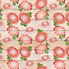 Фотографии Рисованные Текстура Доски цветок