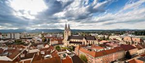 Обои Панорама Дома Собор Австрия Wiener Neustadt, Lower Austria, St. George's Cathedral город