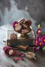 Фото Первоцвет Печенье Ленточка Продукты питания