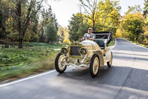 Картинка Старинные Кабриолет Скорость 1908 Laurin авто
