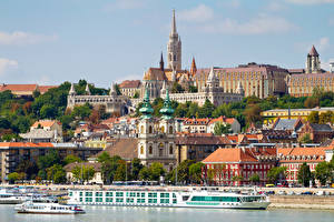 Фото Речка Речные суда Венгрия Будапешт Danube Города