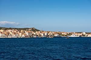 Фотографии Море Берег Корабли Катера Италия La Maddalena, Olbia-Tempio, Sardinia город