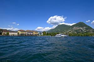 Фотография Швейцария Озеро Речные суда Lugano, Lake Lugano, Ticino