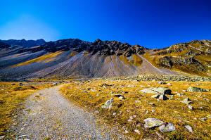 Обои Швейцария Гора Камень Небо Альп Graubünden Природа