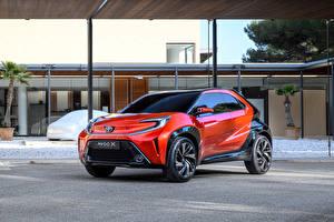 Картинка Toyota Металлик Оранжевая Aygo X prologue, 2021 Автомобили