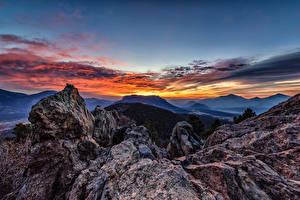 Картинки США Гора Парк Скале Rocky Mountain National Park Природа