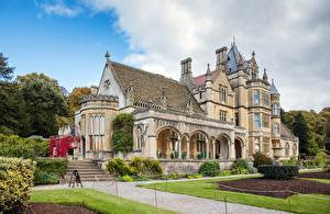 Обои Великобритания Дома Особняк Дизайн Лестница Газоне Tyntesfield House Wraxall Города