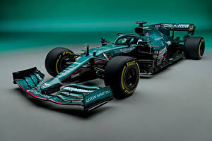 Картинка Aston Martin Формула 1 Зеленая AMR21, 2021 Автомобили Спорт