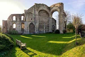 Обои Англия Церковь Скамья Malmesbury Abbey