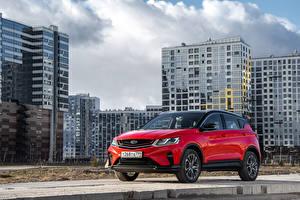 Фотографии Geely Кроссовер Красных Металлик 2020-21 Coolray Sport CIS-spec Автомобили