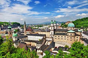 Фотография Дома Церковь Зальцбург Австрия город