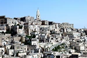 Обои Здания Италия Башни Matera, Basilicata