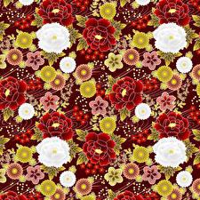 Фото Много Текстура japanese style Цветы