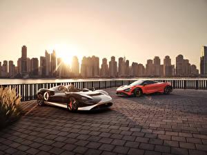 Обои для рабочего стола McLaren Вдвоем Родстер 765LT, MSO Elva M1A Theme машины